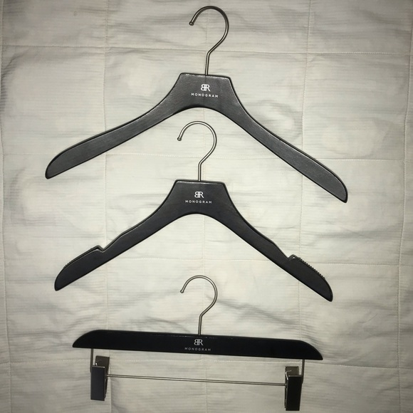 Banana Republic Wooden Hangers Black Set of 3